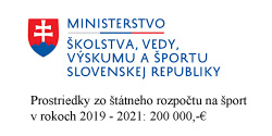 Prostriedky zo štátneho rozpočtu na šport v rokoch 2019 - 2021: 200 000,-€