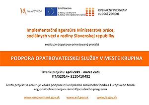 Podpora opatrovateľskej služby v meste Krupina
