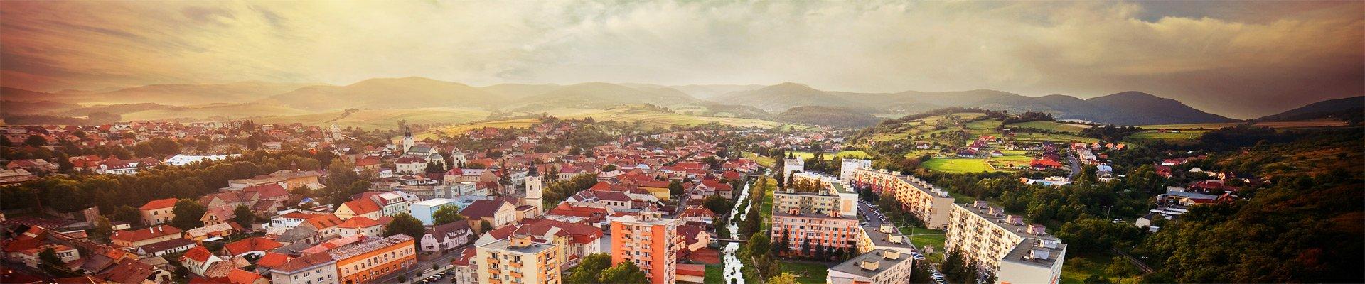 Panoráma mesta Krupina